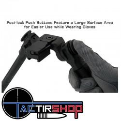 Posi-lock Conception de sécurité unique pour garantir que la position du bras repliable est entièrement verrouillée.