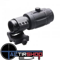 Magnifier grossissement x3 Vector Optics avec support acier sur www.tactirshop.fr