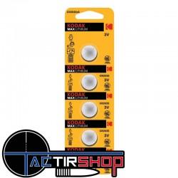 Pile CR2025 Kodak max lithium par lot de 5 sur Tactirshop