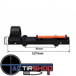 Point rouge pour fusil de chasse avec fibre optique sur www.tactirshop.fr