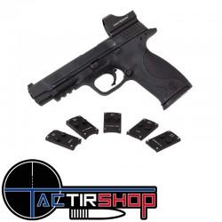 Plaque de montage interface point rouge mini shot pour Glock