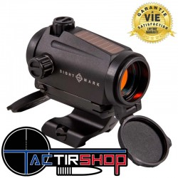 Point rouge de chasse Sightmark Element 1x22 avec alimentation solaire + pile.