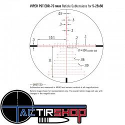 Lunette de tir Vortex Viper Pst Gen 2 5-25x50 FFP EBR-7C Mrad www.tactirshop.fr