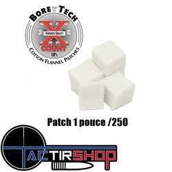 250 patchs carrés Bore Tech...