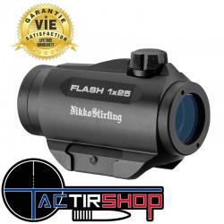 Point rouge Flash 1x25 Nikko Stirling garantie à vie pour la chasse www.tactirshop.fr