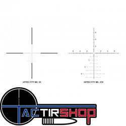 Lunette de tir Athlon  Midas TAC 5-25×56 APRS3 FFP MIL RAD HD www.tactirshop.fr