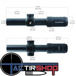 Lunette de tir Tactique Victoptics S6 1-6X24 SFP LPVO www.tactirshop.fr