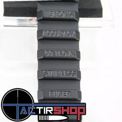 Rail penté picatinny Weapons Accuracy acier inoxydable 50 Moa pour Ruger RPR 22 www.tactirshop.fr