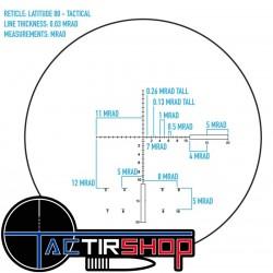Réticule en premier plan focal en Mil radiant du Sightmark Latitude 20-60x80 XD   garantie à vie.