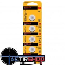 Pile CR2032 Kodak max lithium par lot de 5 sur Tactirshop