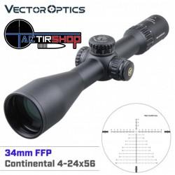 Lunette de visée Vector Optics 34 mm Continental 4-24x56 FFP sur Tactirshop