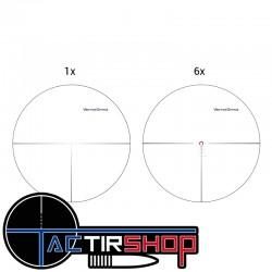 Réticule de la  Lunette de visée Vector Optics Continental 1-6x28 FFP 34 mm sur Tactirshop