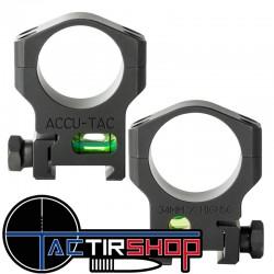 Colliers Accu-Tac 34mm avec niveau à bulle sur Tactirshop