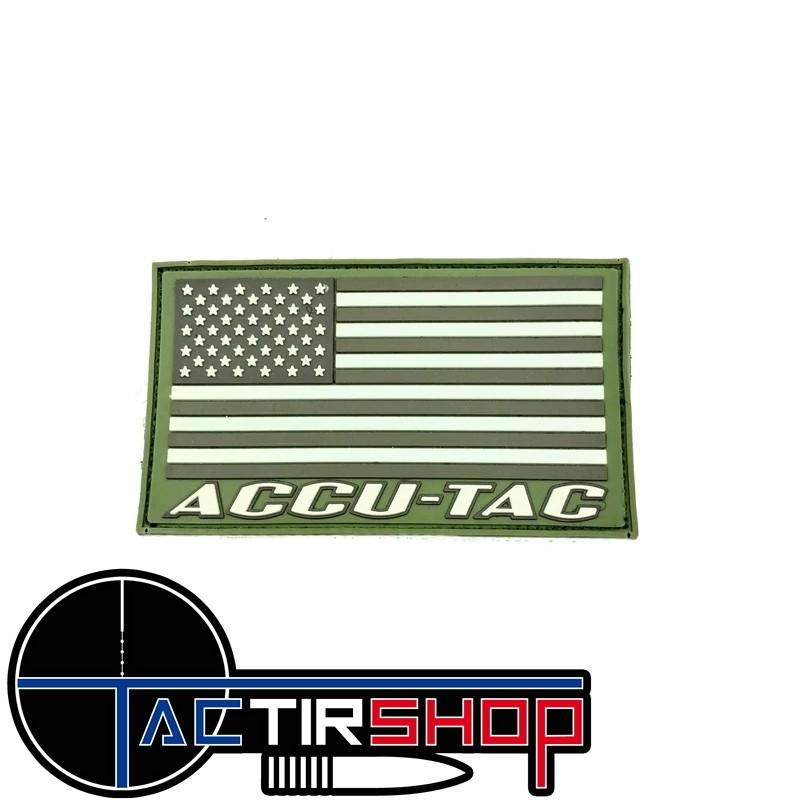 Patch drapeau USA de couleur militaire / camouflage. Accu-Tac sur Tactirshop
