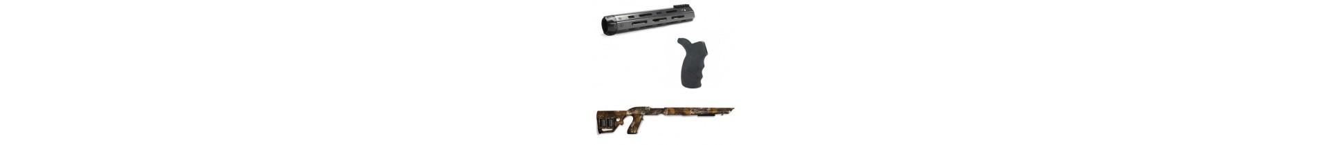 Une sélection importante d'accessoires tactiques pour le tireur et son arme